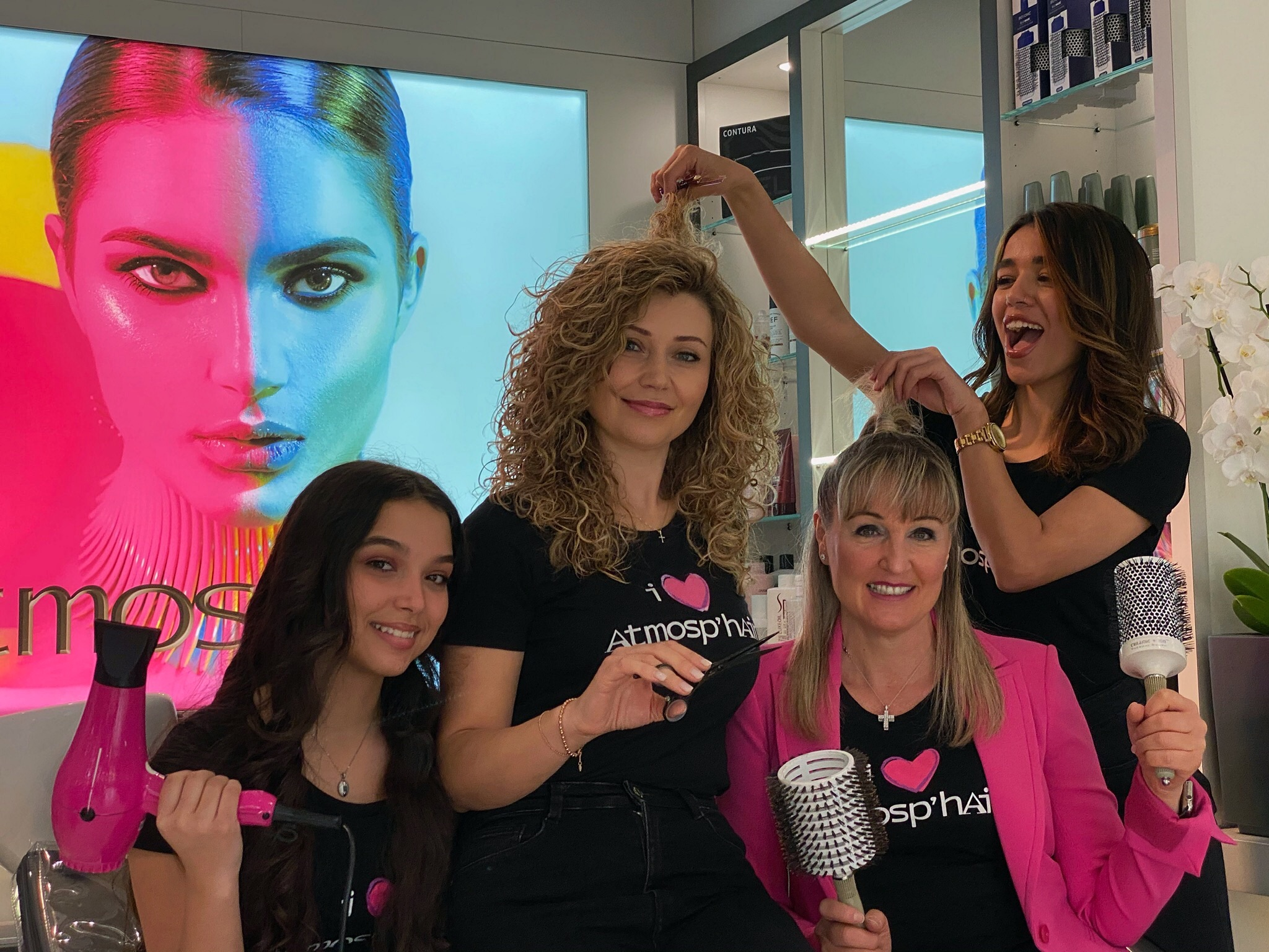 Photo team coiffeur Pully